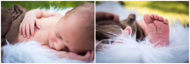 lifestyle newborn session baby feet and hands