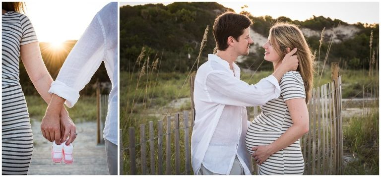 Amelia Island sunset beach maternity session
