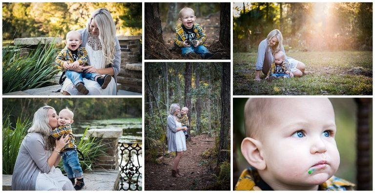 Jacksonville arboretum outdoors family lifestyle session mom and baby