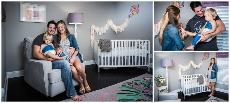 done in home lifestyle maternity session