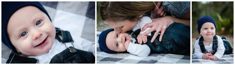fun family outdoors session mother and son