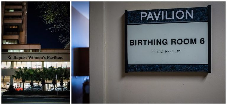 Downtown Jacksonville Baptist Birthing suite