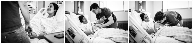 dad talking to his baby girl - birth is a love story